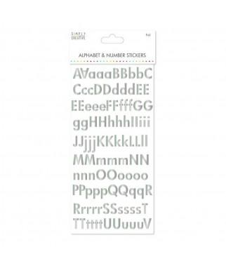 Nalejki z alfabetem i cyframi - tekturowe białe