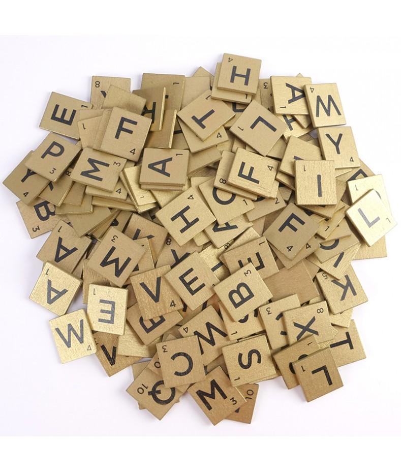 Alfabet na złotych płytkach DCBS227