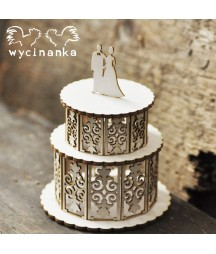 Elementy tekturowe Wycinanka, Tort 3D Just Married