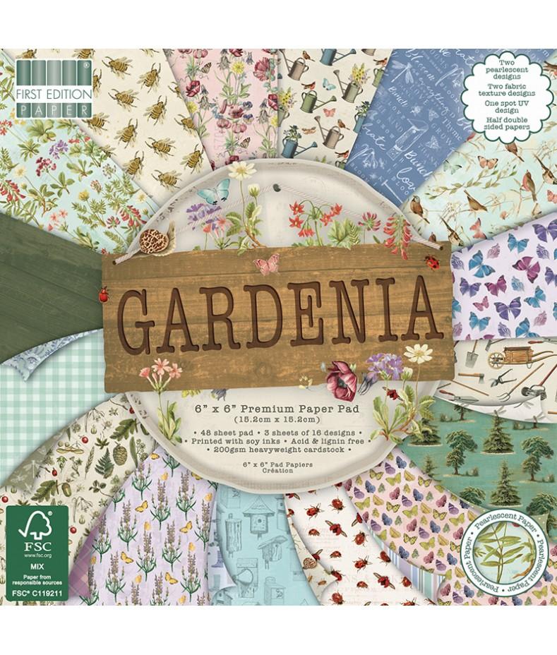 Bloczek do scrapbookingu 6x6, Dovecraft Gardenia FEPAD205