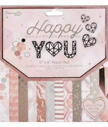 Bloczek do scrapbookingu 6x6, Dovecraft Premium Happy You DCPAP139