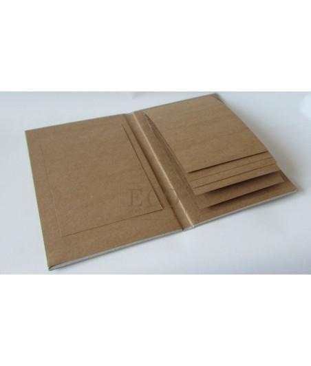 Baza albumowa kaskada I - kraft - pion [Eco Scrapbooking]