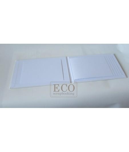 Baza albumowa kaskada I - biała - poziom [Eco Scrapbooking]