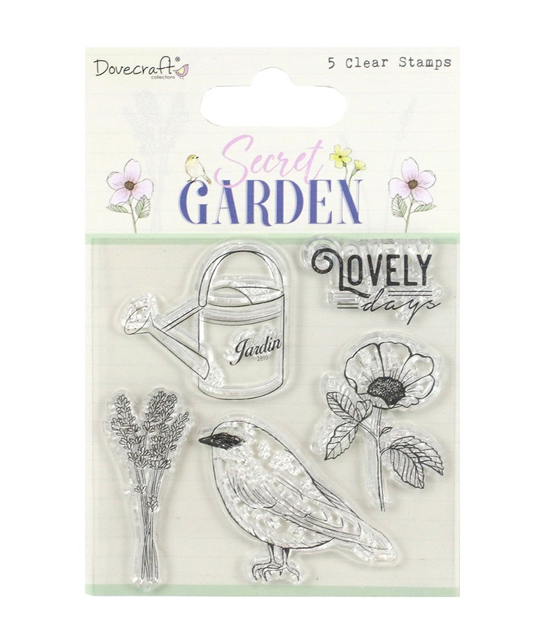 Stemple akrylowe do scrapbookingu, Dovecraft Secret Garden DCSTP181