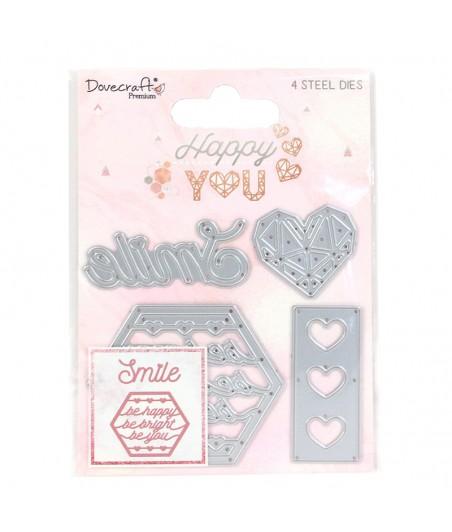 Wykrojniki z sercami, Dovecraft Happy You DCDIE183
