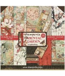 Zestaw papierów do scrapbookingu, Stamperia Oriental Garden SBBL58
