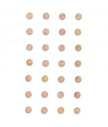 Kryształki samoprzylepne 8 mm z brokatem, light pink - jasnoróżowe GRKR-121