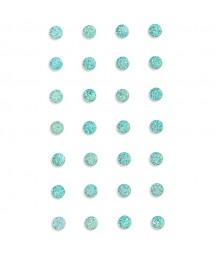 Kryształki samoprzylepne 8 mm z brokatem, mint - miętowe GRKR-122