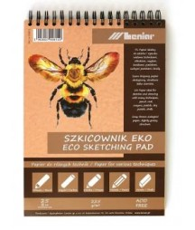 Szkicownik A4 z papierem eko, 25 ark. 225 g/m2 - Leniar