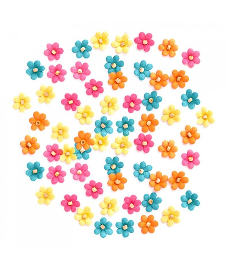 Kwiatki papierowe 10 mm, 60 szt. CEKP-052