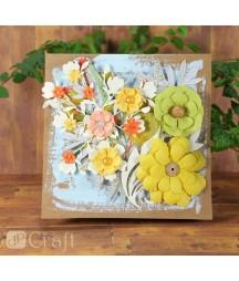 Kwiatki papierowe handmade DP Craft, Mix kolorów 60 szt. CEKP-052