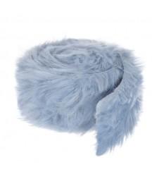 Taśma z futrem DP Craft 6 cm x 2 m, niebieska