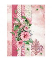 Papier ryżowy Stamperia A4. Flowers for you - róż