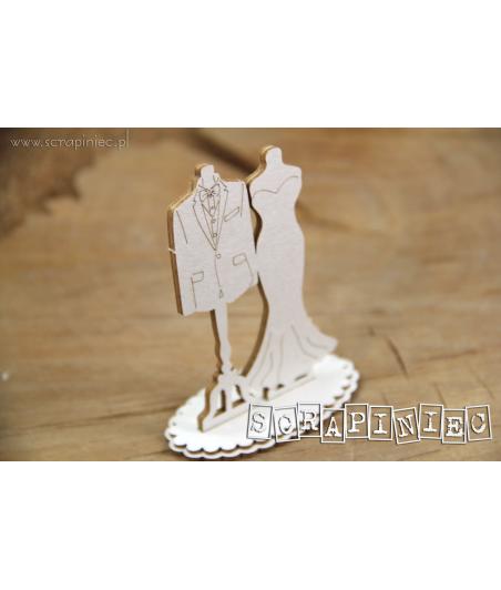 Elementy tekturowe Scrapiniec, Love in 3D - Manekiny dwustronne duże