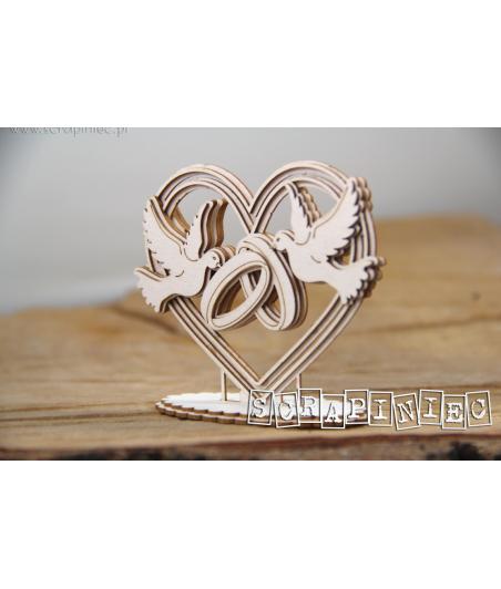 Elementy tekturowe, Love in 3D - Serce 3D do boxa 5576 [Scrapiniec]