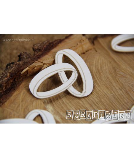 Elementy tekturowe, Love in 3D - Obrączki zestaw mały 4 szt 5573 [Scrapiniec]