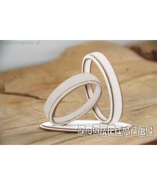 Elementy tekturowe Scrapiniec, Love in 3D - Obrączki