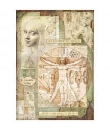 Papier ryżowy Stamperia A3, Science - Leonardo