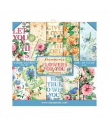 Zestaw papierów do scrapbookingu, Stamperia Flowers for You SBBS05