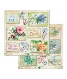Bloczek papierów do scrapbookingu 8x8, Flowers for You - Stamperia SBBS05