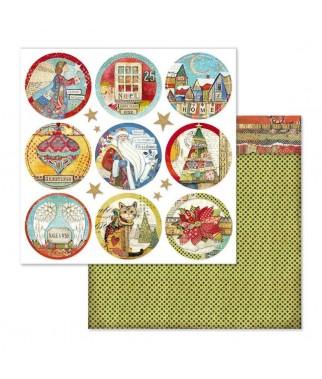 Papier do scrapbookingu 12x12, Stamperia - Make a Wish SBB637 - okrągłe tagi