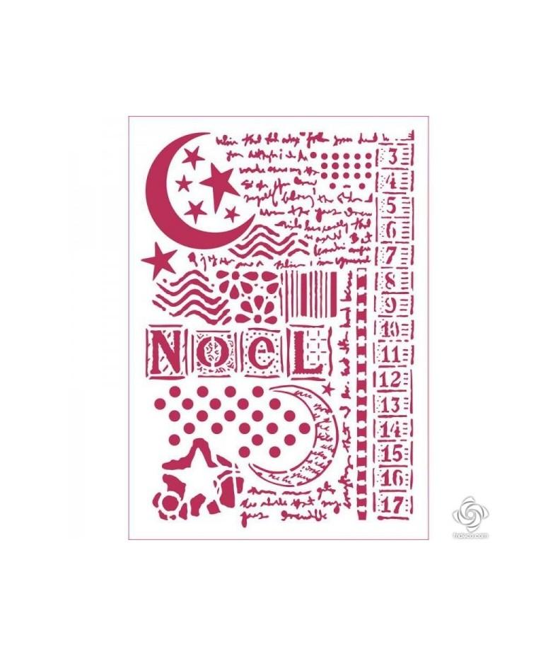 Szablon do decoupage Stamperia, Noel - księżyc KSG434