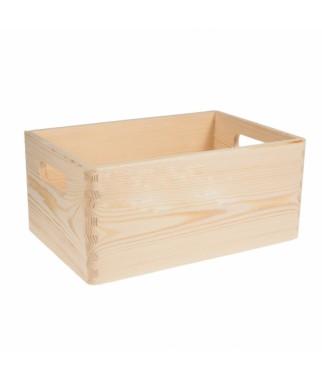Drewniana skrzynka bez wieka - baza do decoupage SN130