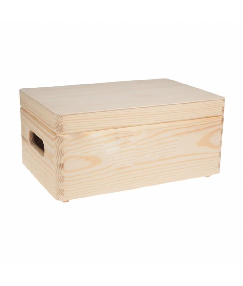 Drewniana skrzynka z wiekiem - baza do decoupage SD130