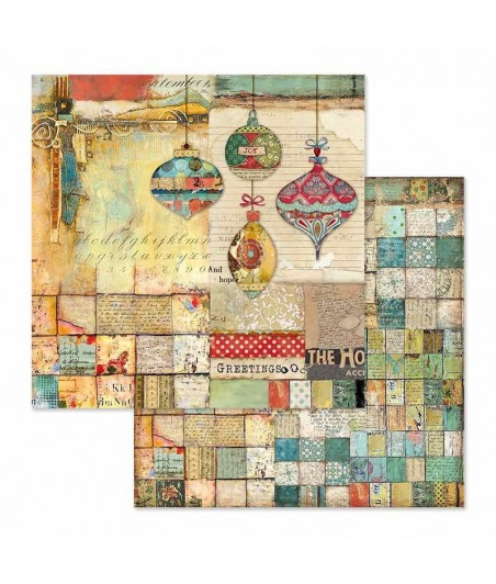Papier do scrapbookingu 12x12, Stamperia - Make a Wish SBB635 - patchwork