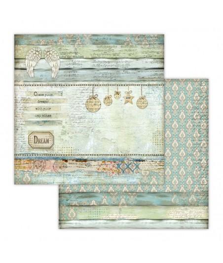 Papier do scrapbookingu 12x12, Stamperia - Make a Wish SBB651 - anielskie tło