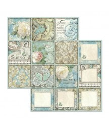 Bloczek papierów do scrapbookingu 12x12, Azulejos - Stamperia SBBL55
