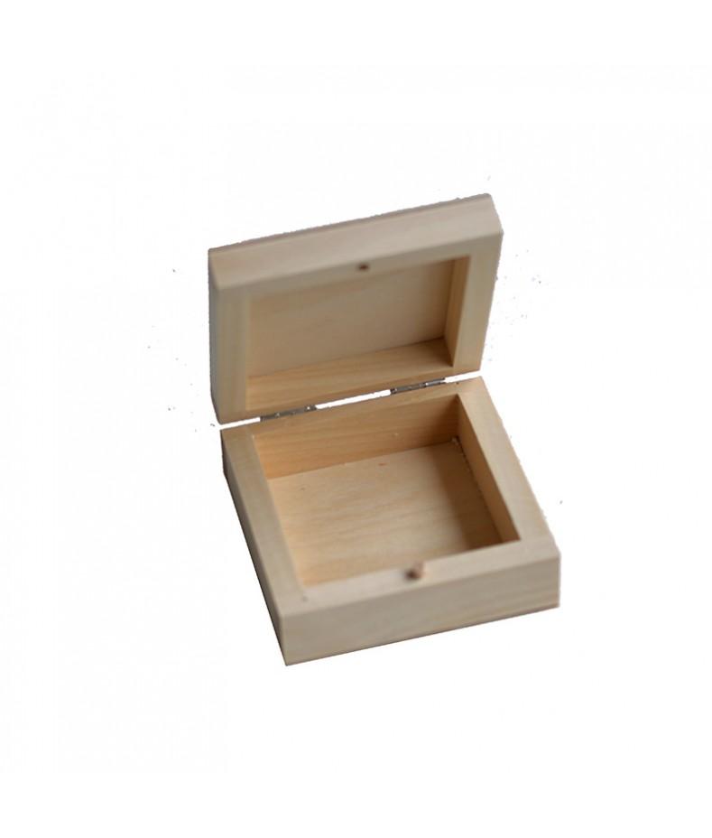 Pudełko drewniane kwadratowe 8,5x8,5 do decoupage PZ264M