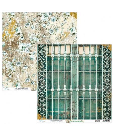 Papier do scrapbookingu 12x12, Old Manor 05 - Mintay Papers
