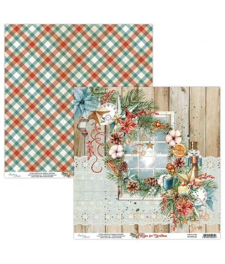 Papier do scrapbookingu Mintay Papers - Home for Christmas 01