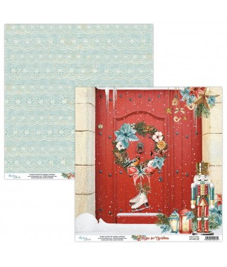 Papier do scrapbookingu Mintay Papers - Home for Christmas 02