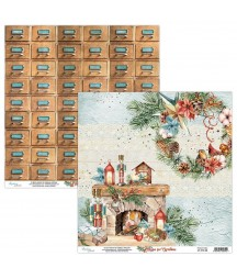 Papier do scrapbookingu Mintay Papers - Home for Christmas 03