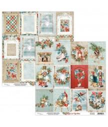 Papier do scrapbookingu Mintay Papers - Home for Christmas 06