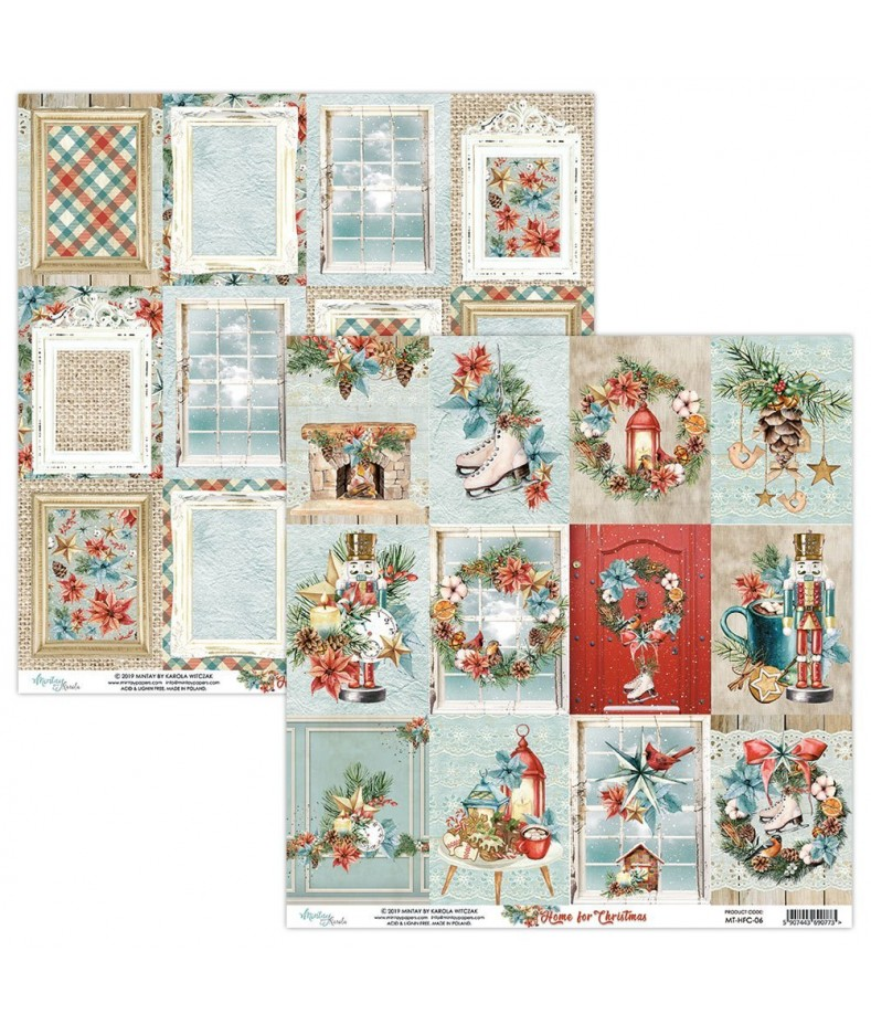 Papier do scrapbookingu Mintay Papers - Home for Christmas 06