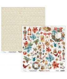 Papier do scrapbookingu Mintay Papers - Home for Christmas 09