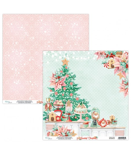 Papier do scrapbookingu Mintay Papers - Sweetest Christmas 01