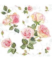 Serwetka róże.