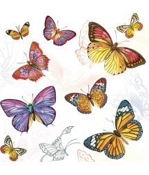 Serwetka motyle 4