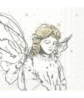 Serwetka zamyślony anioł