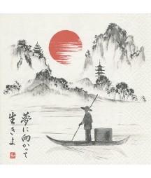 Serwetka japońska łódka