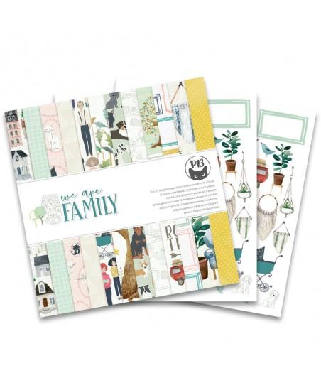 Zestaw papierów do scrapbookingu 12x12, We are family [P13]