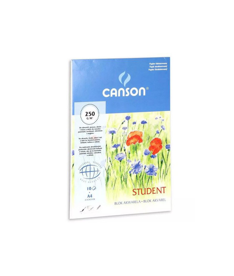 Blok do akwareli A4, 250 g/m2, Canson