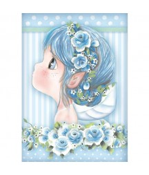 Papier ryżowy Stamperia A4 - Wróżka błękitna - Tatiana's Fairies DFSA4409