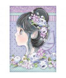 Papier ryżowy Stamperia A4 - Wróżka liliowa - Tatiana's Fairies DFSA4411