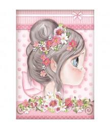 Papier ryżowy Stamperia A4 - Wróżka różowa - Tatiana's Fairies DFSA4412