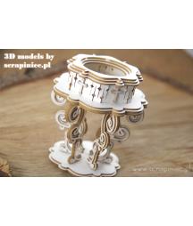 Elementy tekturowe 3D Scrapiniec 5593, Chrzcielnica 3D